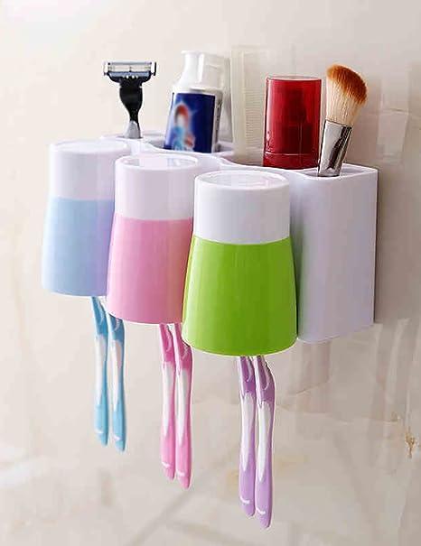 Soporte del cepillo de dientes del lavaplatos del sostenedor del cuarto de baño del lavabo de
