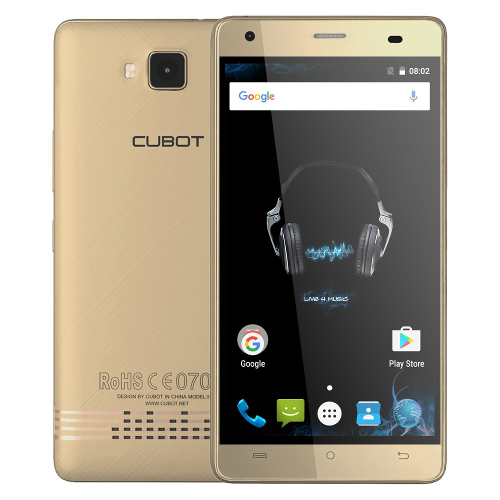 CUBOT Echo Smartphone 3G WCDMA Android 6.0 MTK6580 Quad Core 5.0 ...
