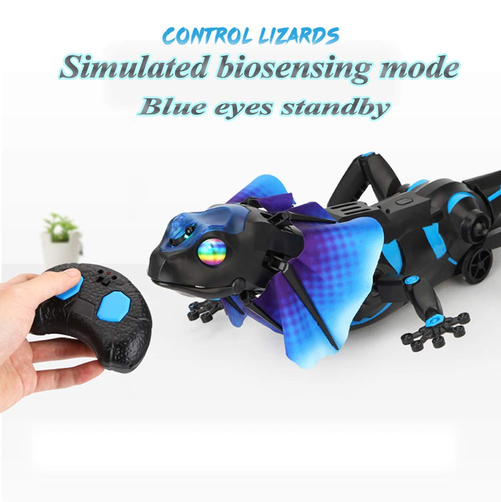 SOWOFA RC Animals Remote Controls Infrared Sensing Lizard Realistic Toy Moving Walking Color Change w/ Sound Lighting Electric Pet Joke Toys by SOWOFA (Image #5)