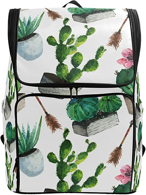 Succulents Cactus Multifunctional Bundle Backpack Shoulder Bag For Men And Women
