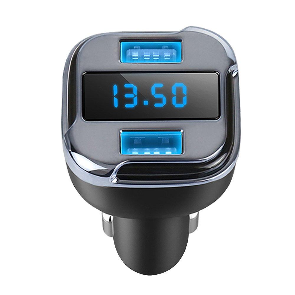 Cargador de Coche Tracker 4.2A Dual USB Coche r/ápido GPS Coche sat/élite con veh/ículo GPS localizador m/óvil App Buscador de Seguimiento en Tiempo Real de estacionamiento Dispositivos compatibles