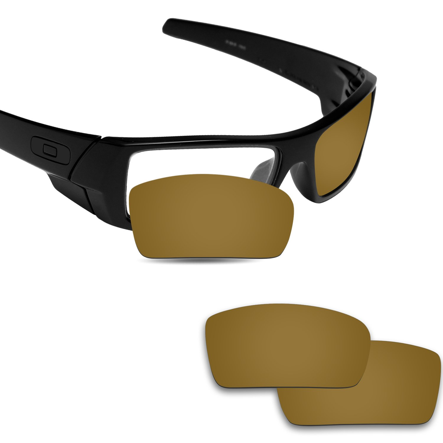 Fiskr Anti-saltwater Polarized Replacement Lenses for Oakley Gascan Sunglasses - Various Colors (Bronze Gold - Anti4s Mirror Polarized, 0)