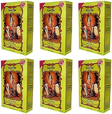 6 x 100 g Henna color natural – Tinte para el cabello polvo ...