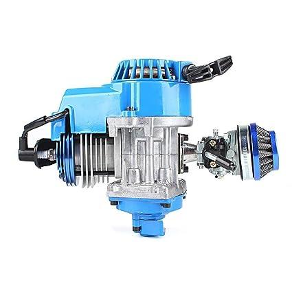 49cc 2 Stroke High Performance Engine Motor Pocket Mini Bike Scooter ATV Blue
