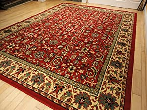 Amazon Com Red Traditional Rug Large Red 8x11 Persian Rug