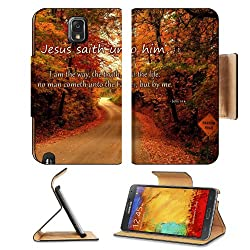Truth Life Father Christ John Samsung Galaxy Note 3 N9000 Flip Case Stand Magnetic Cover Open Ports