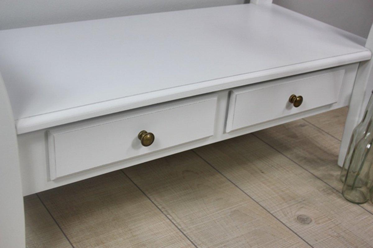 elbmöbel Holzbank in weiß antik aus Holz im Landhaus-Stil mit ...
