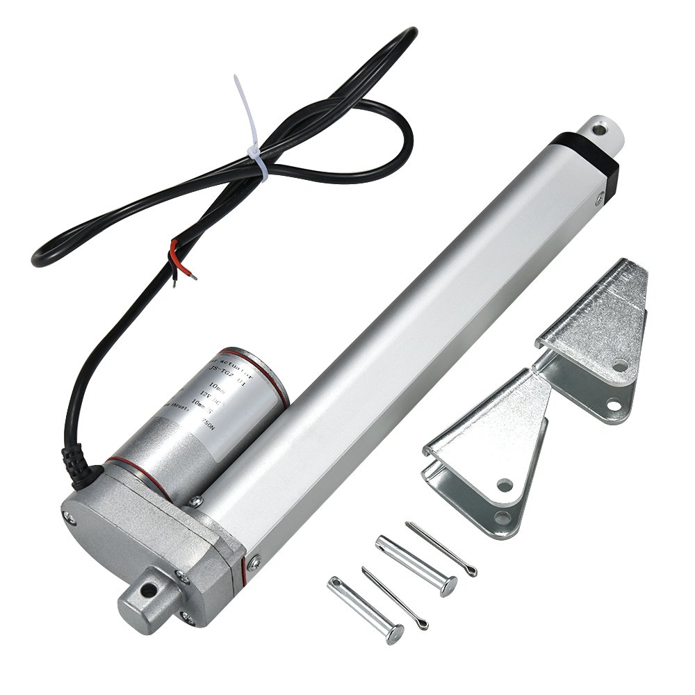 Panana Linear Actuator Motor DC 12V 750N Electric Door Opener (100mm)