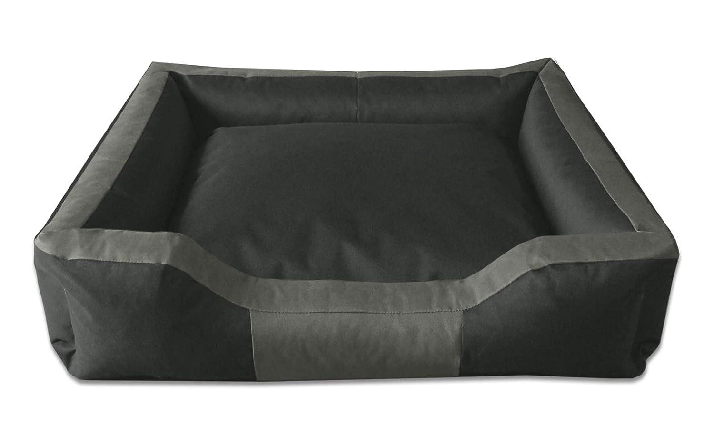 BedDog BRUNO, noir/brun, XL env. 100x85 cm,Panier corbeille, lit pour chien, coussin de chien