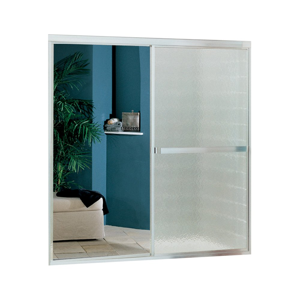 "Sterling Plumbing 690B-59S-G04 Bath Door Bypass 55-1/4""H x 51-1/4 - 56-1/4""W Mirrored Glass Silver"
