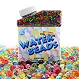 Arts & Crafts : Water Beads, 50000 Icy Soft Water Gel Orbeez Beads Pearls Growing Jelly Balls Splendid Colors for Water beads Pool, Kids Tactile Sensory Toys, Plants Vases, Party and Home Decoration
