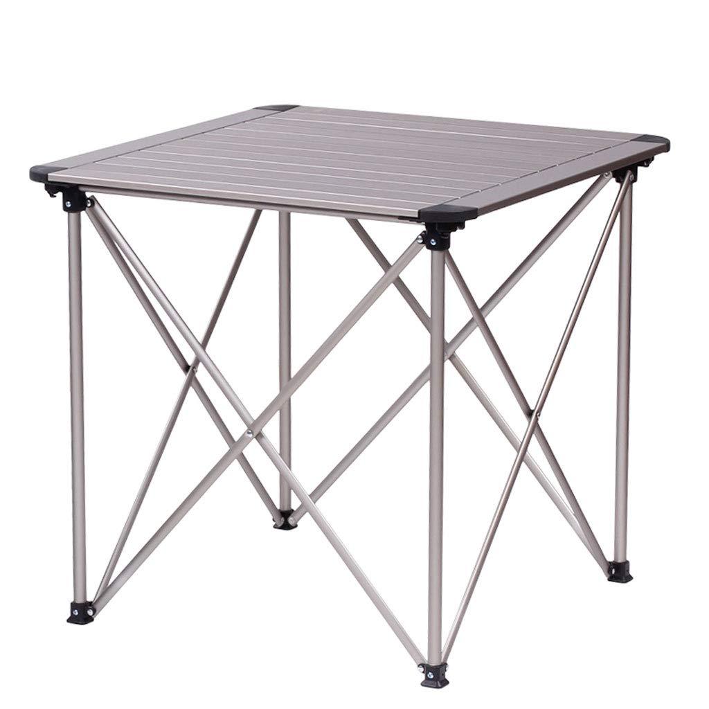 NJ 折りたたみ式テーブル- アルミ折りたたみテーブル、屋外自転車ポータブルキャンプテーブルのピクニックテーブル (色 : シルバー しるば゜, サイズ さいず : 50x50x48cm) 50x50x48cm シルバー しるば゜ B07MR5BRH9