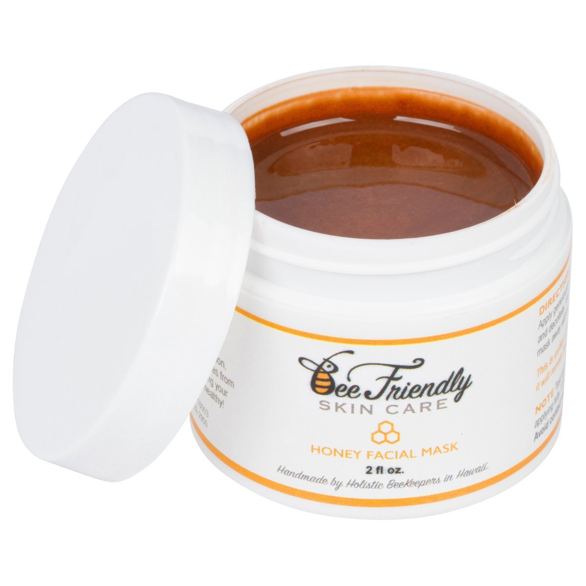 Raw Honey Facial Mask,100% All Natural w/ French Pink Clay Revitalizing Face Mask by BeeFriendly, Leaves Skin Soft, Smooth, Youthful, Pulls Impurities, Enhances Collagen Production, Clears Acne