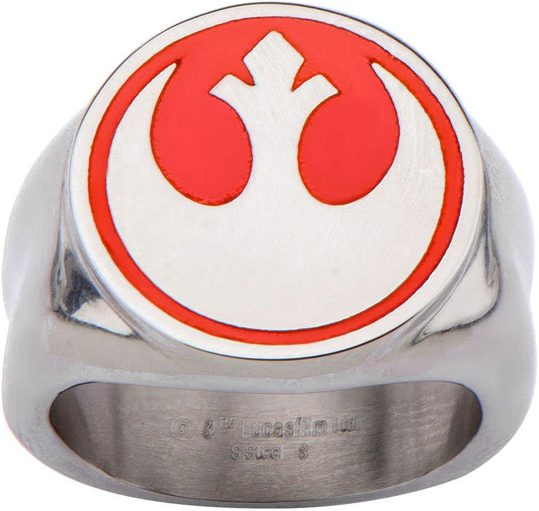 Star Wars Yellow Rebel Symbol Stainless Steel Ring