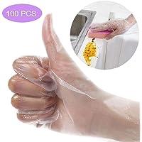 100 PCS Guantes desechables, guantes de vinilo engrosados