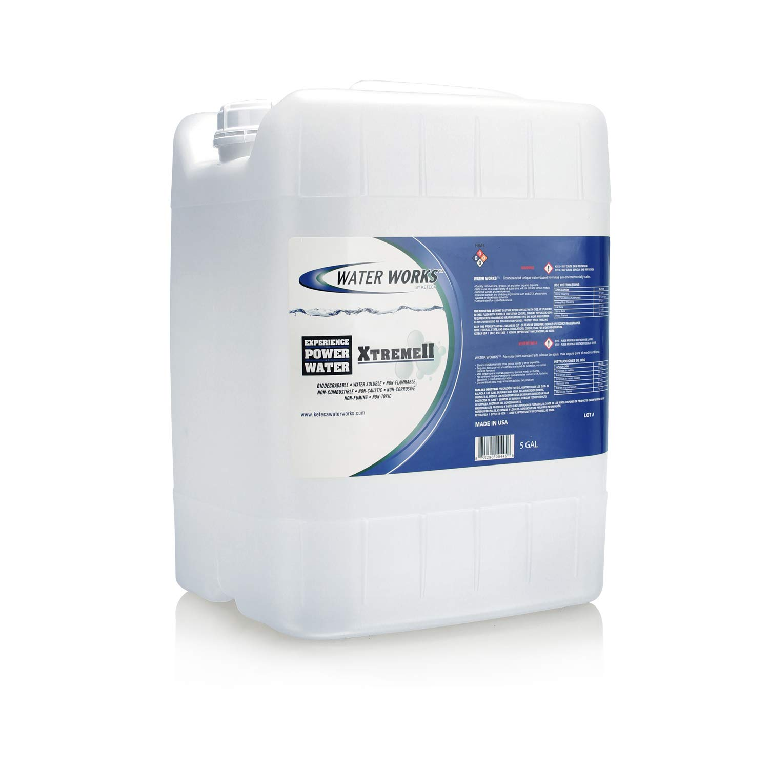 Water Works Xtreme KLEEN Surfactant Based Ink Cleaner/Degreaser, 5 Gallons by Water Works