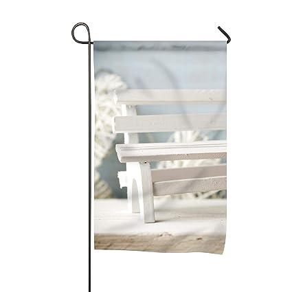 Super Amazon Com Welcome Garden Flag Romantic Love Bench Home Short Links Chair Design For Home Short Linksinfo