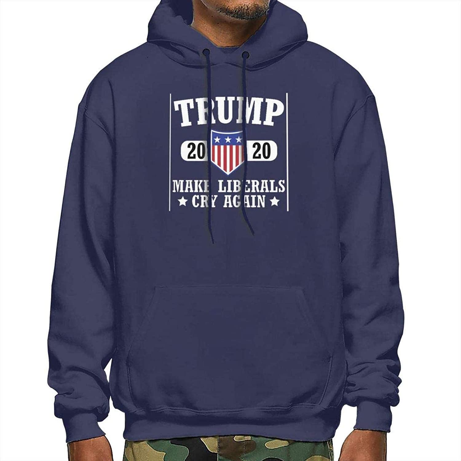 Mens Hoodie Sweatshirt 2020 Make Liberals Cry Again Pullover for Men