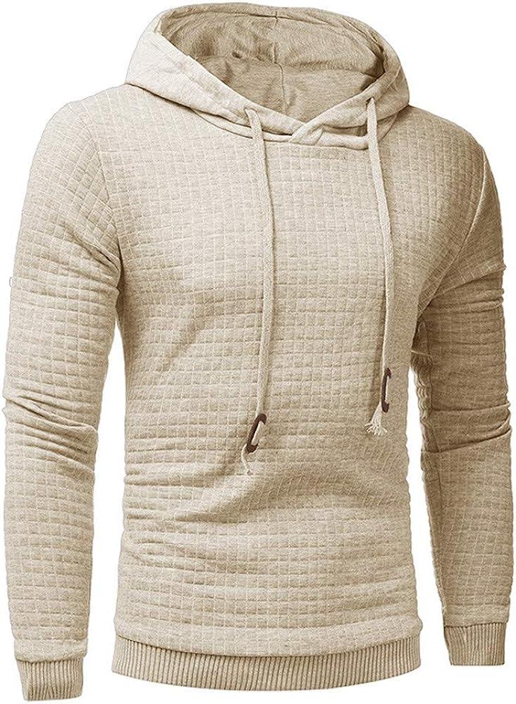 Mens Long Sleeve Hoodie Hooded Sweatshirt Tops Jacket Coat Outwear