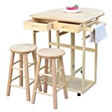 U-smile Dining Cart with stools and Tableware
