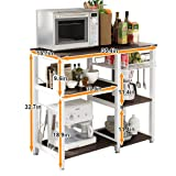 Soges 3-Tier Kitchen Baker's Rack Utility Microwave Oven Stand Storage Cart Workstation Shelf, W5s-B