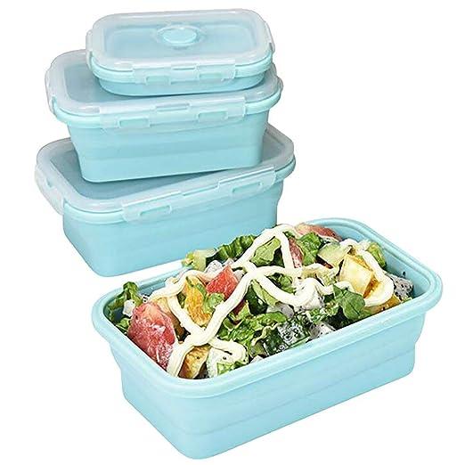 QIHANG-UK - Fiambrera de silicona Bento Box contenedor de comida ...