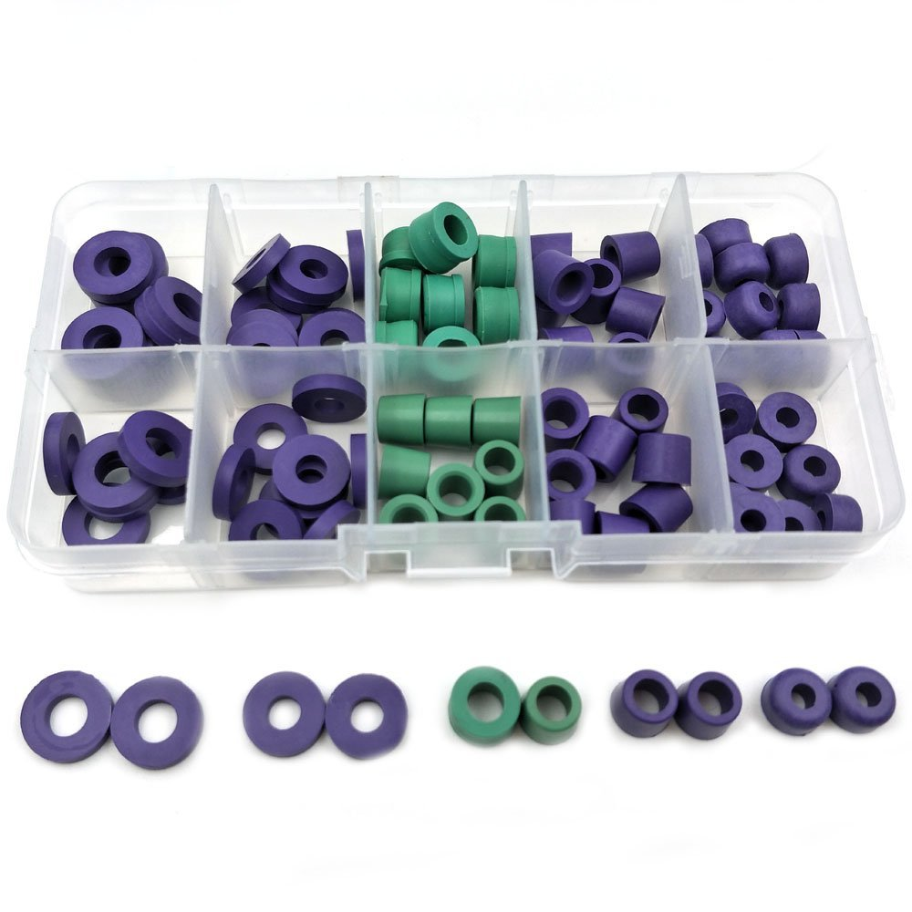 94pcs//Set O-ring Kit R134a Car Air Conditioning Refrigerant Table Pipe Rubber Ring Seals Gaskets Seals Box Tool Parts