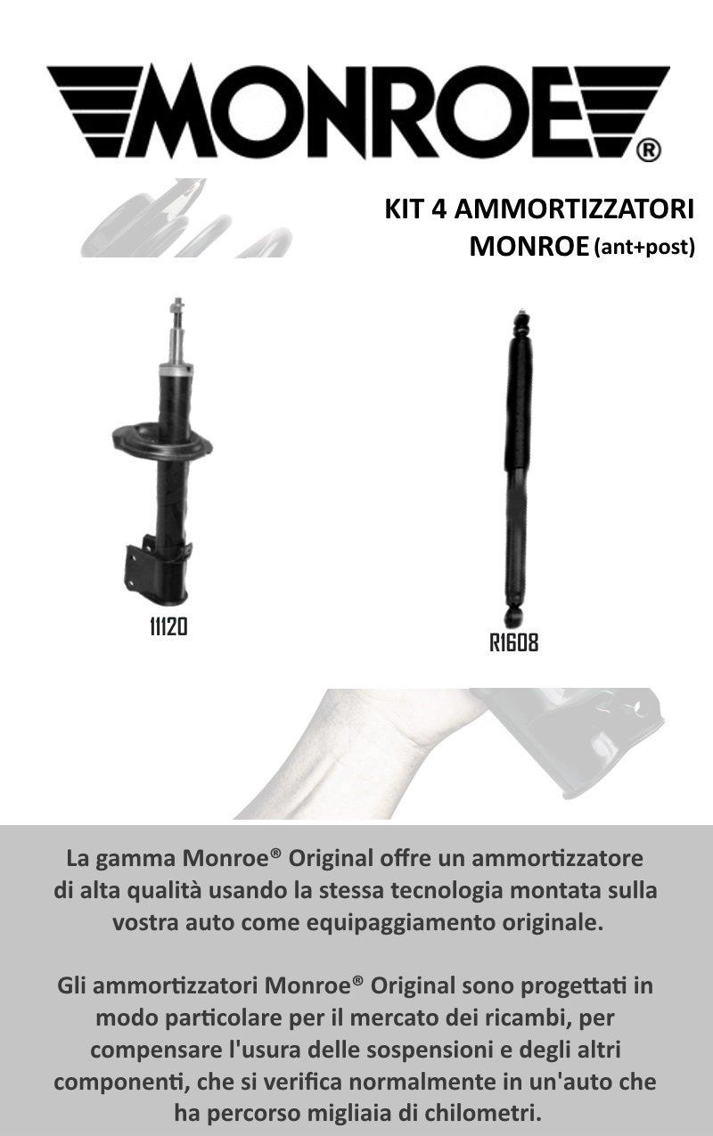 KIT 4 AMMORTIZZATORI ORIGINALI MONROE ANTERIORI 11120 + R1608 POSTERIORI