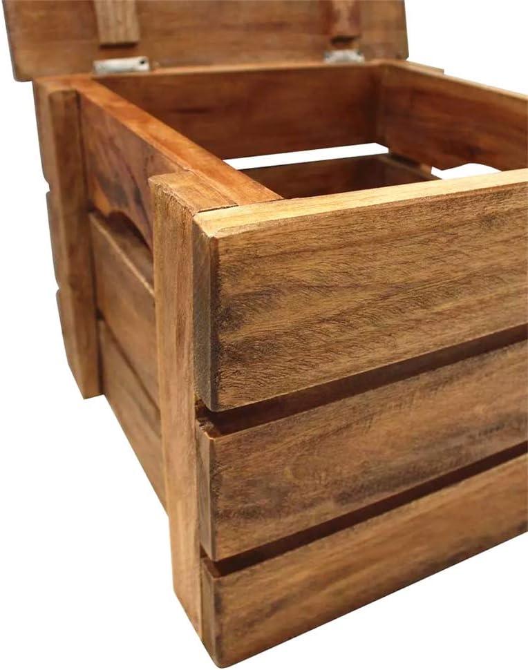 BLUECC 2pcs Reclaimed Storage Box 100/% Solid Wood Storage Trunk