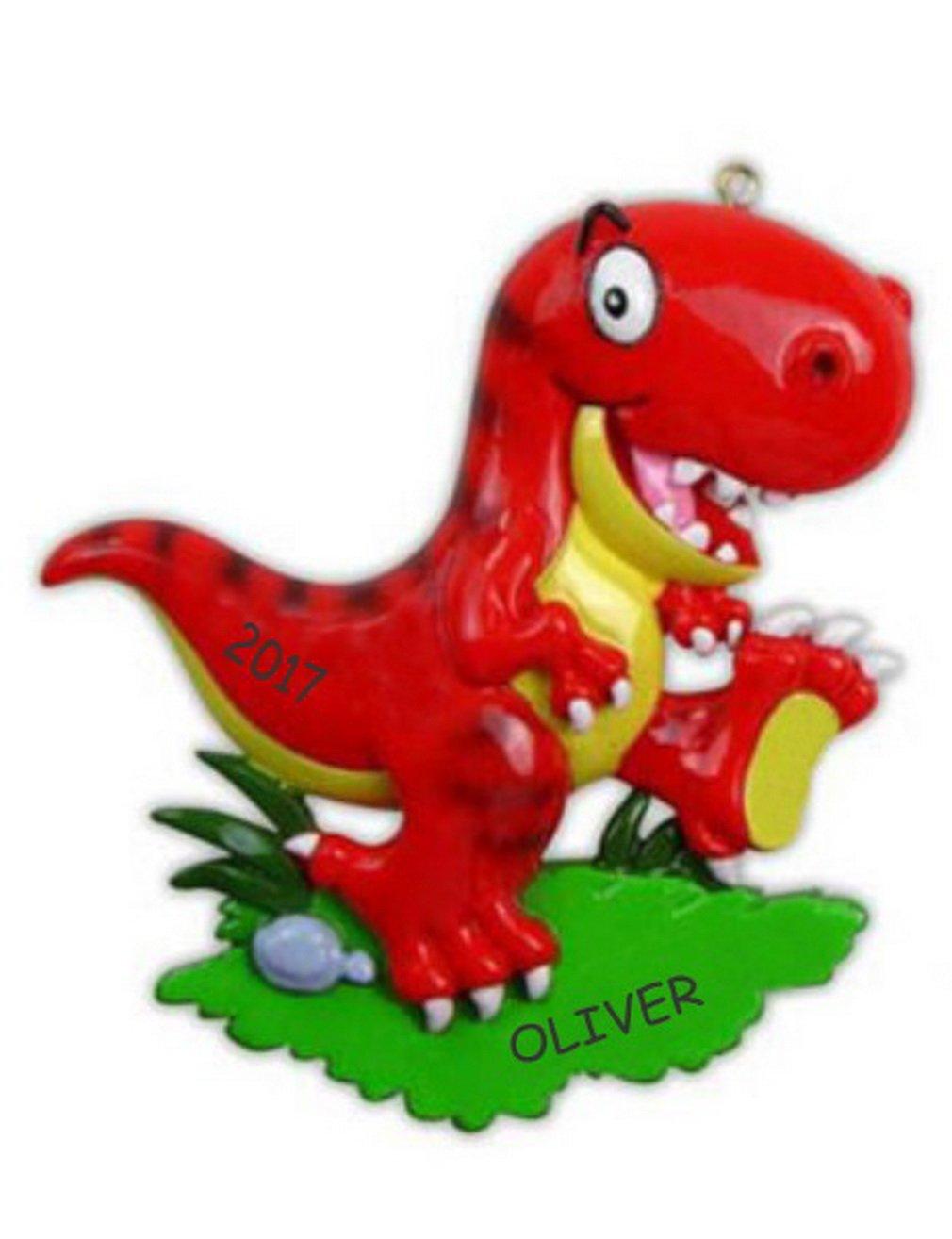Personalized Dinosaur Christmas Ornament (T-Rex)