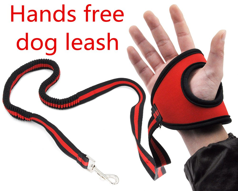Hands Free Dog Leash Lead - Best Running Training Leash Lead with Zero Bungee Shock Absorbed Belt – for Small Medium Large Dogs Safety – Adjustable from 4.7ft to 6ft SLZZ