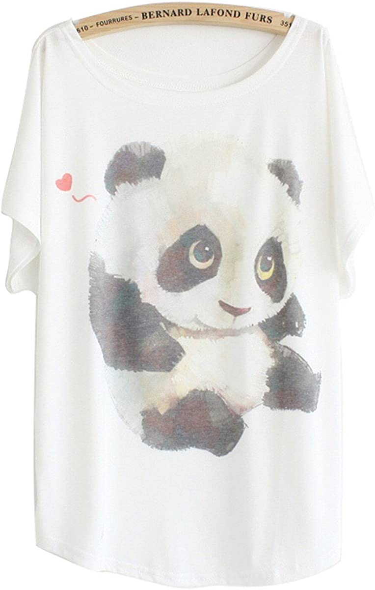TALLA 36. Luna et Margarita Camiseta Mujer Blanca Manga del Batwing patrón Cuello Redondo Mezcla de algodón tamaño 36 38 40 42 44 46