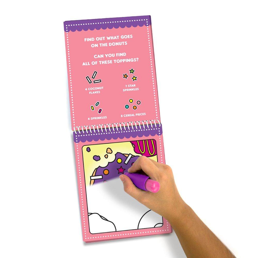 Cupcake profumato e ciambella Scent Masters Water Magic Riutilizzabile Water Reveal Coloring Book Bundle