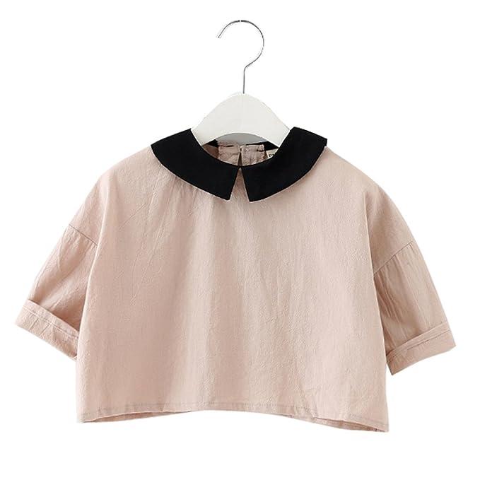 adc6d277a25f XUNYU Baby Girls Cotton Long Sleeve T Shirt Blouse Tops Bottom Tee ...