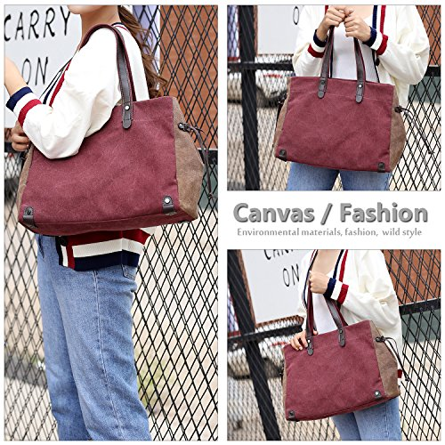 Women's Wine Type12 Shoulder Red Bag Tote nrYxwY81qg