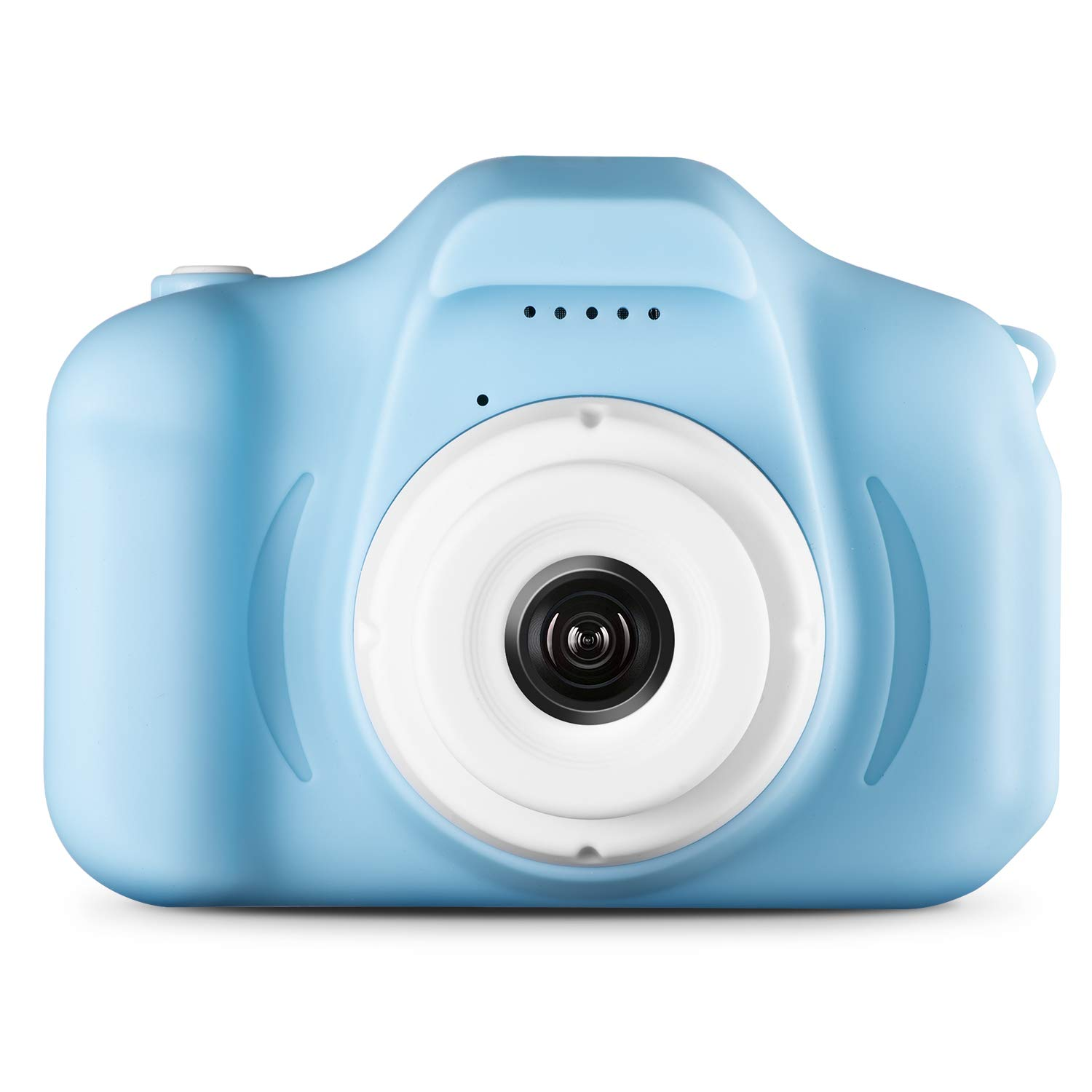 Agassi Kids Camera ,Digital Camera for Kids,Digital Video Camera Children Creative DIY Camcorder with Rechargeable Battery Birthday / Christmas / (16G TF Card Included),Blue by Agassi