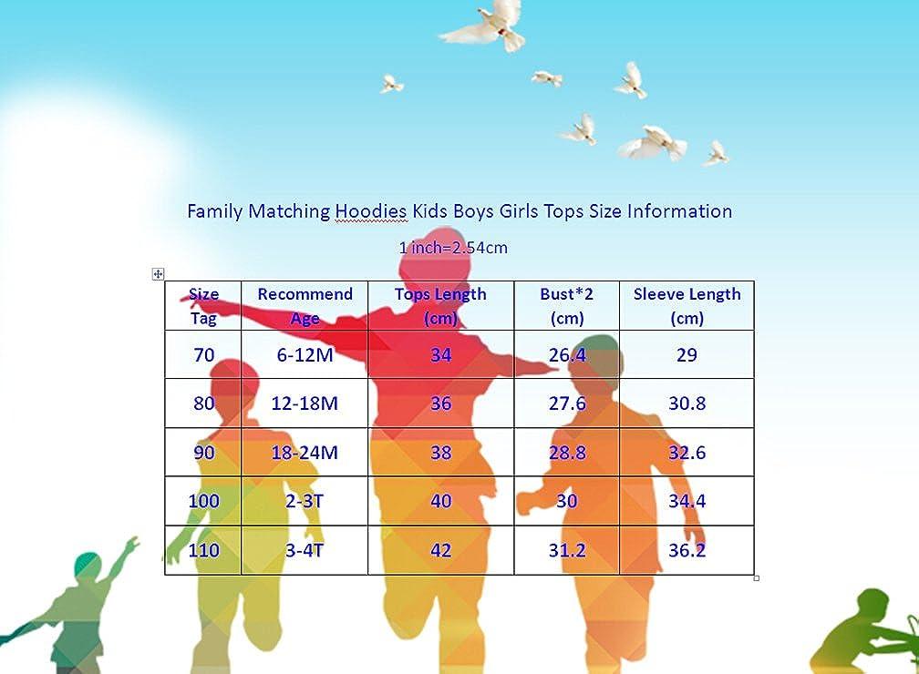 Hotwon Family Matching Clothes Mom Dad Baby Boy Girl Hoodies Kids Long Sleeve Sweatshirt Tops