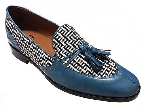 Garofalo Gianbattista - Mocasines para Hombre Azul Azul Claro: Amazon.es: Zapatos y complementos