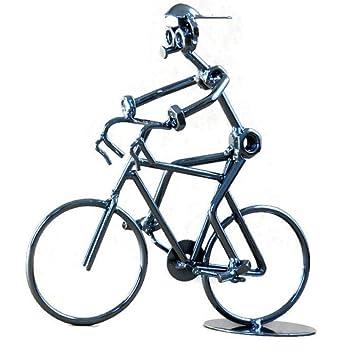 Berry President Creative mano soldadura decoración del hogar de hierro fundido cables y tornillos Estatua/Figura decorativa Rider de bicicleta/bicicleta de ...