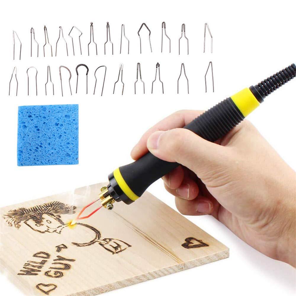 HUKOER M/áquina de pirograbado multifunci/ón kit de pirograbado de madera 25W Kit de m/áquina de quemado de madera Calabaza digital Herramienta de artesan/ía de madera para madera//cuero//calabaza
