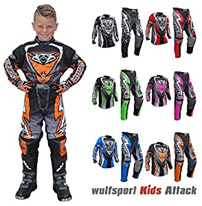 WULFSPORT ATTACK Motocross Traje De Moto Niños Quad Enduro ...