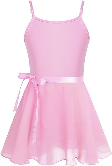 Agoky Vestido Maillot de Ballet Danza para Niña Leotardo Body de ...