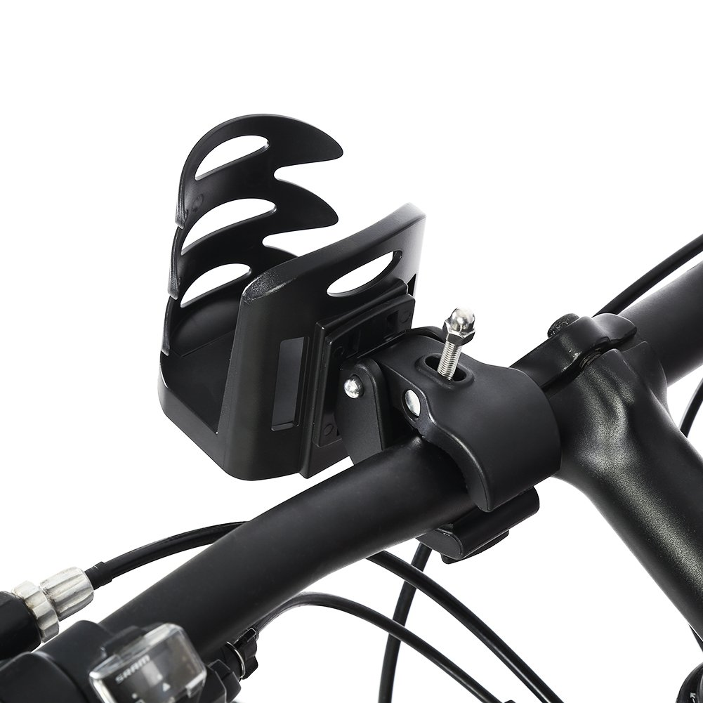 Bicycle Bottle Holder Cycling Water Bottle Rack, Universal Stroller Cup Holder Fits Travel Mugs Sippy Cups, Easy Mount & Quick Release
