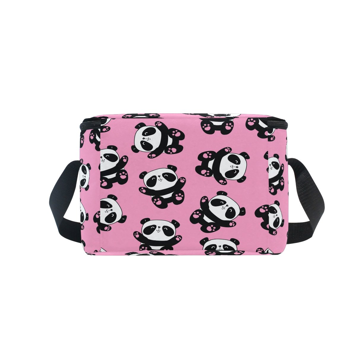 ALAZA Pink Elephant Insulated Lunch Bag Box Cooler Bag Reusable Tote Bag Outdoor Travel Picnic Bag with Shoulder Strap for Women Men Adults Kids