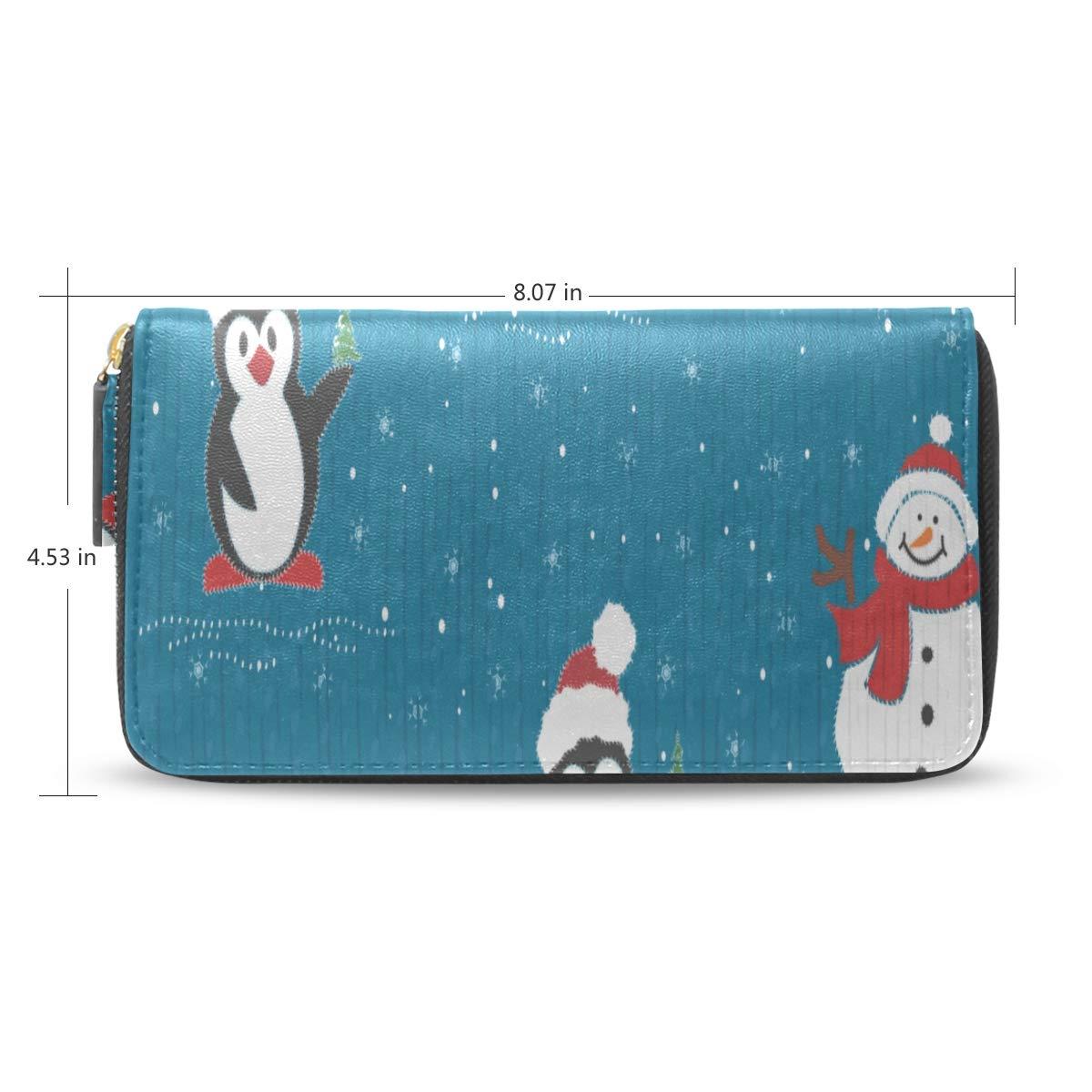 Frío Invierno Nieve Pingüino Pasaporte largo Embrague ...