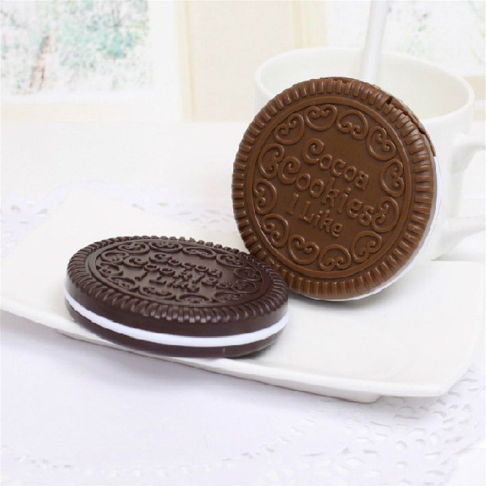 Yingealy Childrens Mirror Mini Cookies Shape Small Glass Mirrors with Comb Circles for Crafts Decoration Cosmetic Accessory