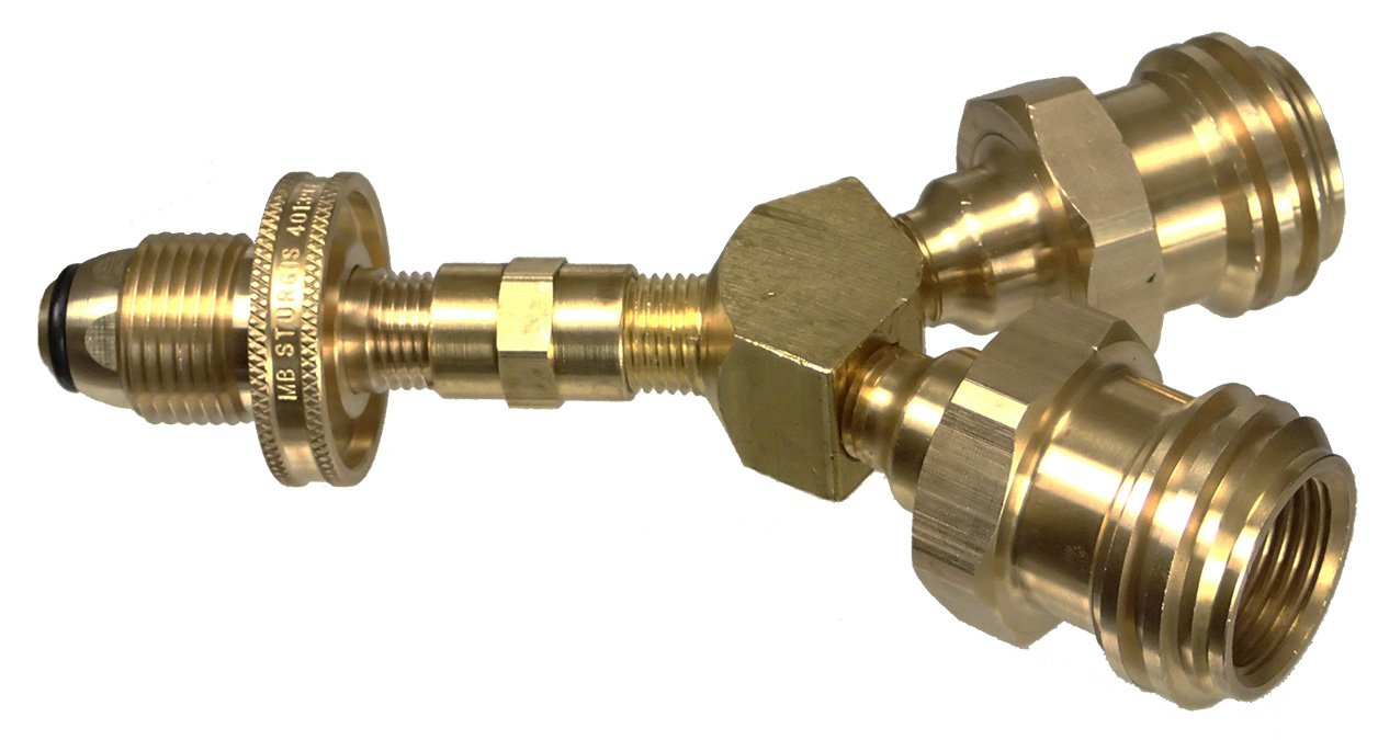 Sturgi-Safe Dual LP Tank Valve Adapter