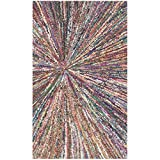 Safavieh Nantucket Collection NAN319A Handmade Abstract Burst Multicolored Cotton Area Rug (2'3″ x 4′) Review