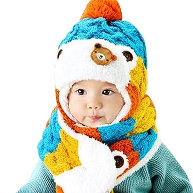 0e67377a6d75d AnKoee Mignon Enfants d hiver Bébé Chapeaux