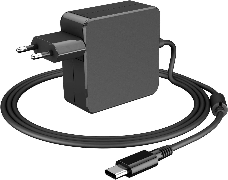 Ponkor 65W USB Type C Adaptador Cargador Rápido para Apple MacBook Pro, Lenovo, ASUS, Acer, DELL, Xiaomi, Huawei Matebook, HP, Thinkpad Alimentación